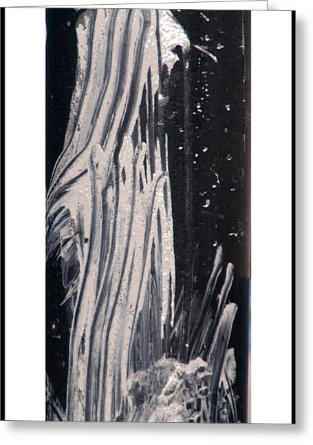 Ghost Abstract Greeting Card by Geraldine Alexander