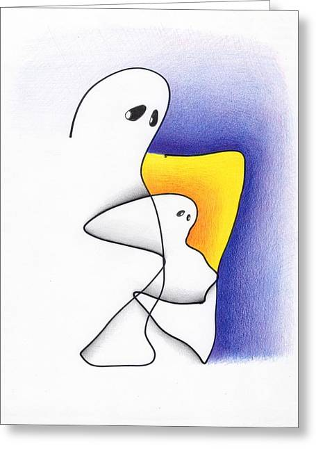 Ghost And Child Greeting Card