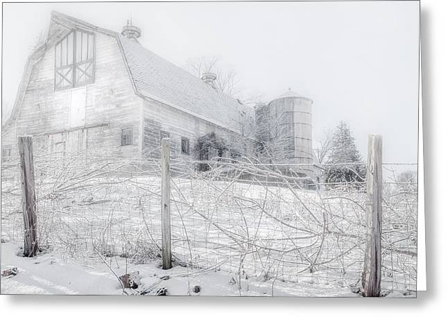 Ghost Barn Greeting Card by Bill Wakeley
