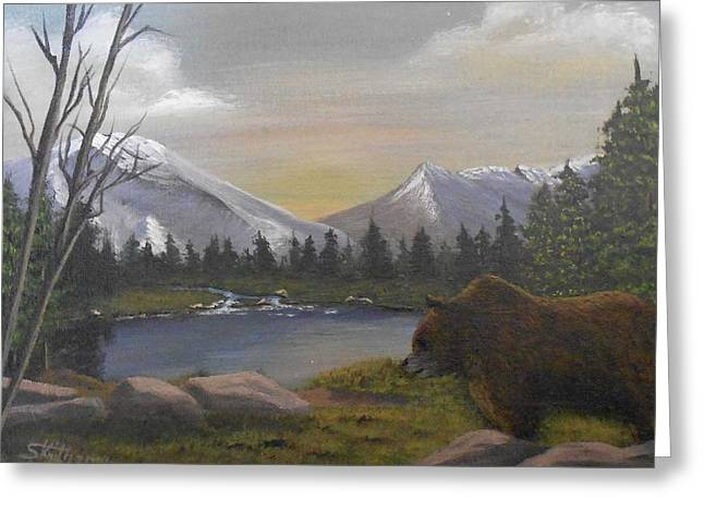 Ghost Bear-the Cascade Grizzly Greeting Card