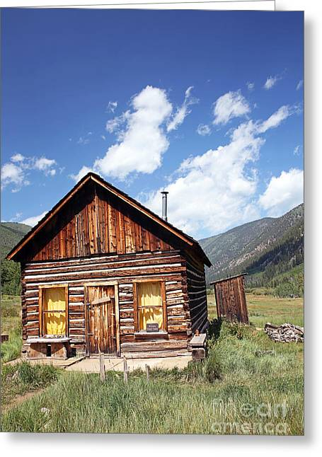 Ghost Cabin Greeting Card by Betty Morgan
