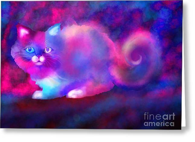 Ghost Cat 2 Greeting Card by Nick Gustafson