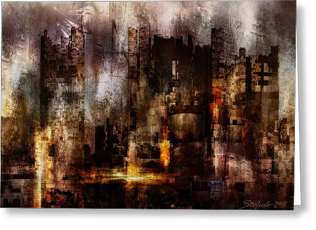 Ghost City II Greeting Card by Stefano Popovski