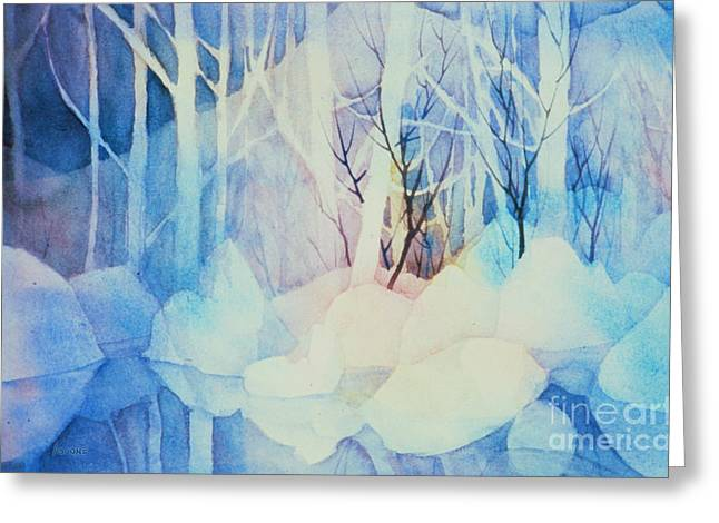 Greeting Card featuring the painting Ghost Forest by Teresa Ascone