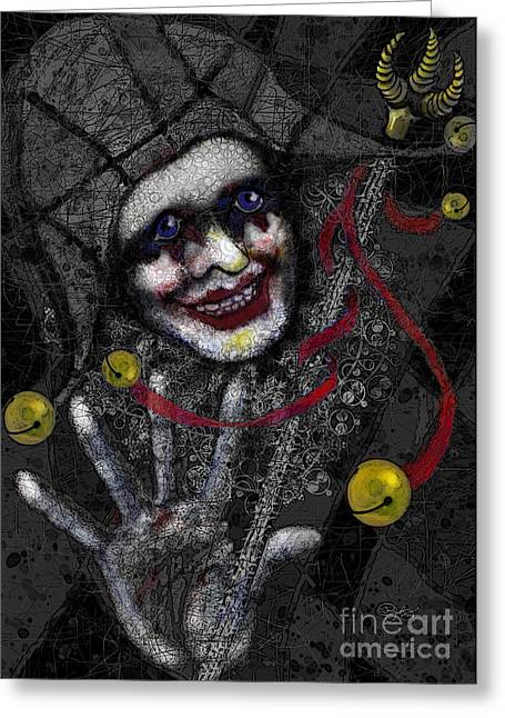 Ghost Harlequin Greeting Card