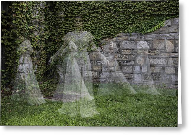 Ghost In The Garden Greeting Card