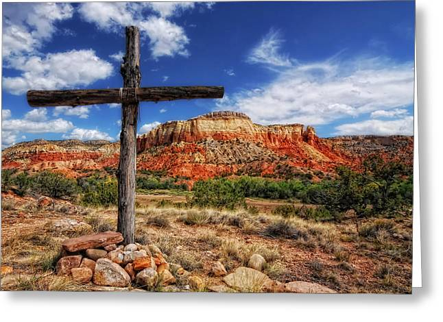 Ghost Ranch Cross Greeting Card