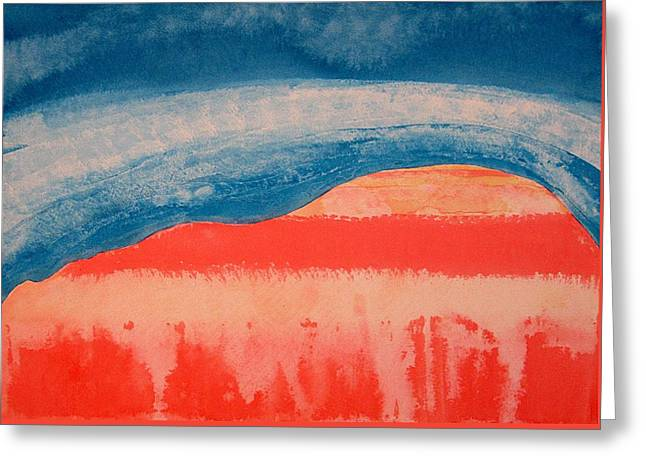 Ghost Ranch Original Painting Greeting Card by Sol Luckman