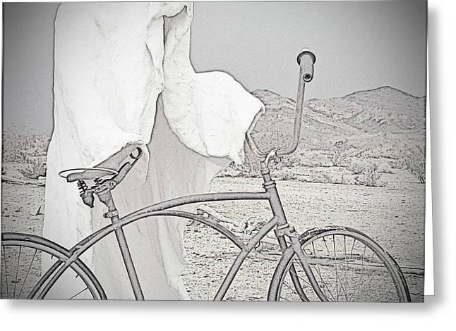 Ghost Rider Sketch Greeting Card by Marcia Socolik