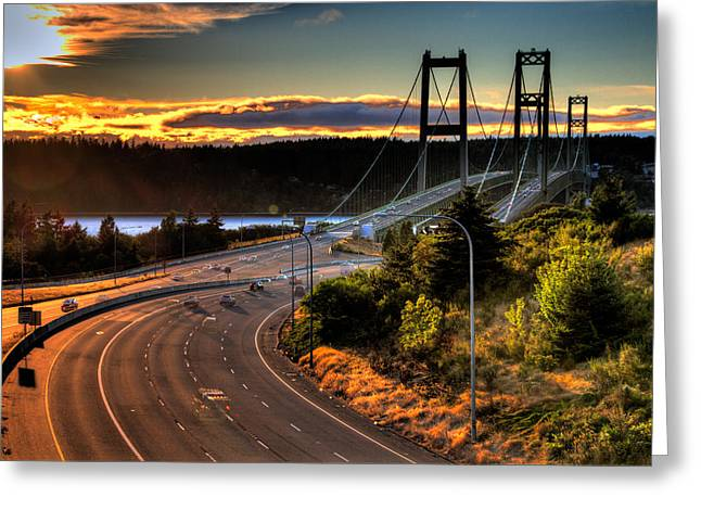 Ghost Riders - Narrows Bridges Greeting Card