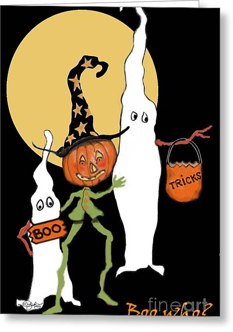 Ghost Sandwich Greeting Card by Carol Jacobs