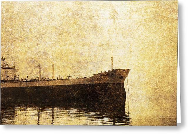 Ghost Ship Greeting Card by Skip Nall