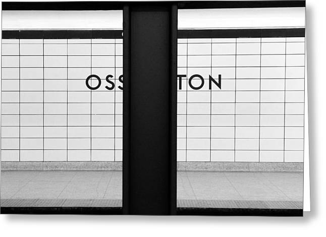 Ghost Station Greeting Card by Valentino Visentini