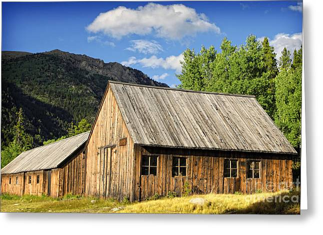 Greeting Card featuring the photograph Ghost Town Barn And Stable by Lincoln Rogers