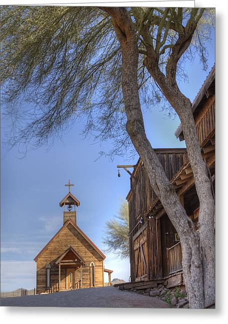 Ghost Town Chapel Greeting Card by Wendell Thompson