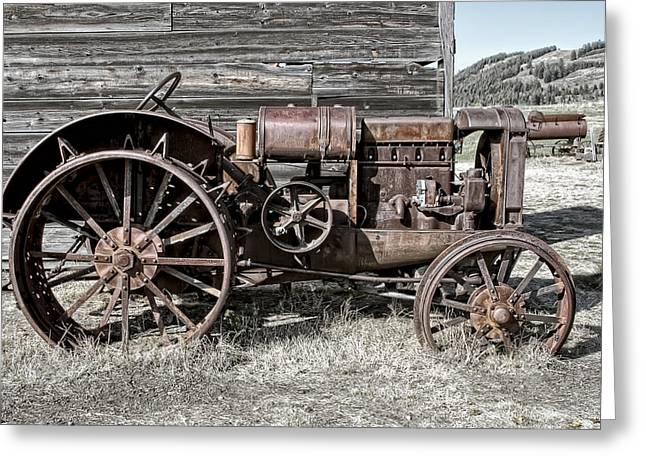 Ghost Town Farm Tractor - Molson Washington Greeting Card by Daniel Hagerman