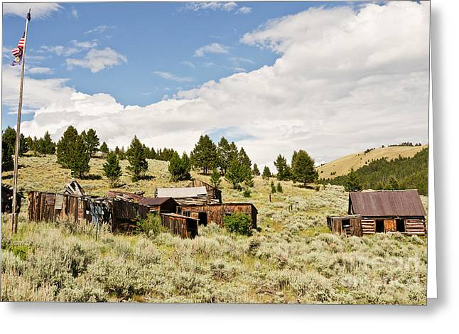 Greeting Card featuring the photograph Ghost Town In Summer by Sue Smith
