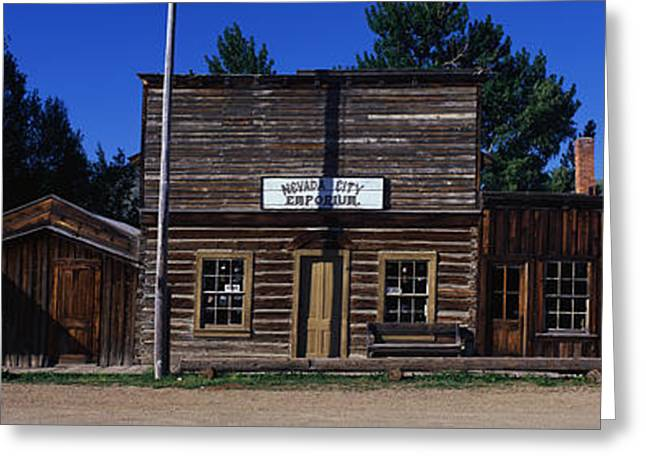 Ghost Town Nevada City Mt Greeting Card by Panoramic Images