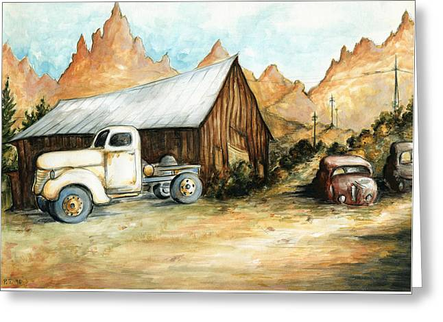 Ghost Town Nevada - Western Art Greeting Card