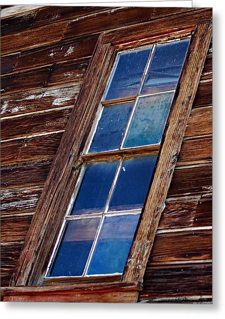 Ghost Town Panes Greeting Card