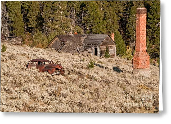Ghost Town Remains Greeting Card by Sue Smith