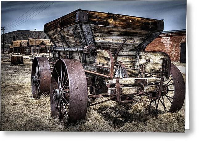 Ghost Town Wagon Greeting Card