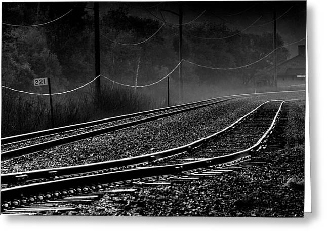 Ghost Tracks Greeting Card by Thomas Young