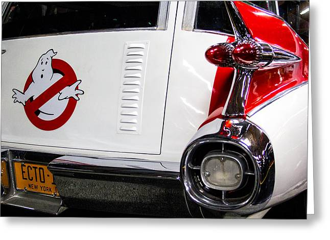 Ghostbusters Ecto-1 Greeting Card by Robert Storost