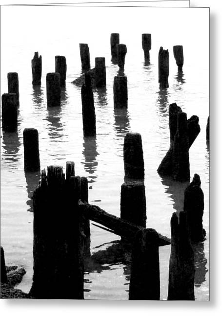 'ghostly Pilings' Greeting Card