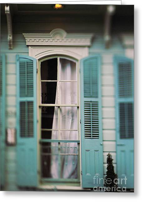 Ghostly Window Greeting Card by Heather Green