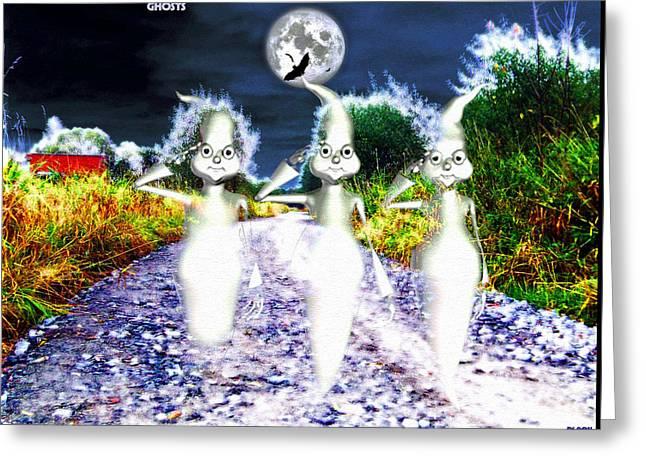 Greeting Card featuring the digital art Ghosts by Daniel Janda