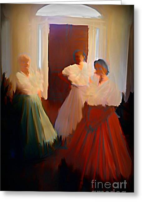 Ghosts Of A Louisianna Plantation Greeting Card by John Malone