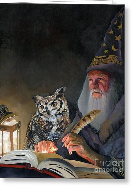 Ghostwriter Greeting Card by J W Baker