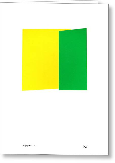 Giallo E Verde Greeting Card by Moran  de Musee