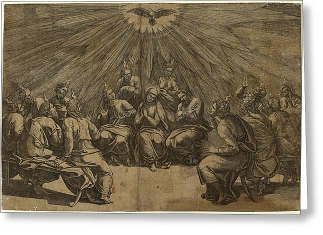 Gian Jacopo Caraglio After Raphael Italian Greeting Card