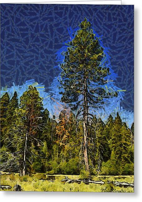 Giant Abstract Tree Greeting Card by Barbara Snyder