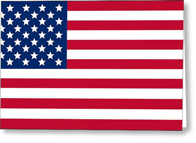 Giant American Flag Greeting Card by Ron Hedges