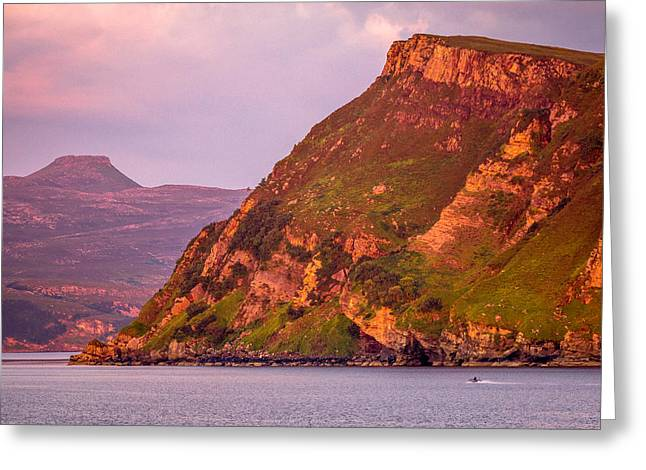 Giant Cliff Greeting Card by Yuri Fineart