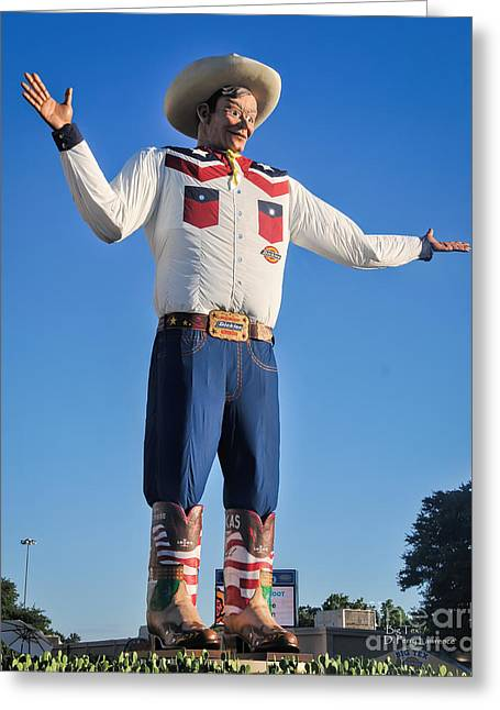 Giant Cowboy Big Tex State Fair Of Texas Greeting Card
