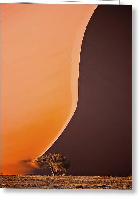 Giant Dunes Of Sossuvlei In Namibia Greeting Card