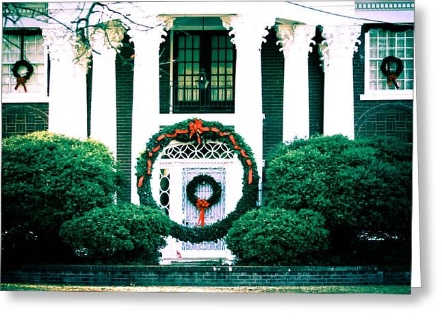 Giant Green Wreath Greeting Card by Audreen Gieger