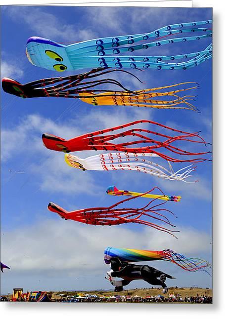 Giant Kites At The Berkeley Kite Festival Greeting Card by Patricia Sanders