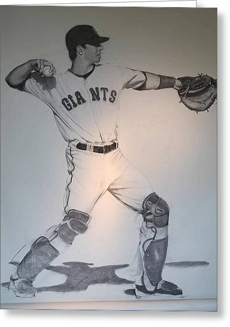 Giant Posey Greeting Card by Darren Kerr