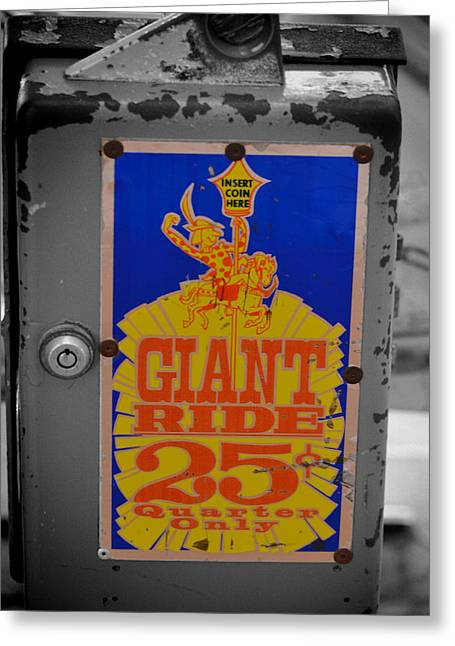 Giant Ride 25 Greeting Card