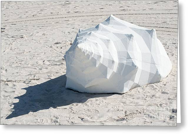 Giant Shell Sculpture 2  - Key West  Greeting Card