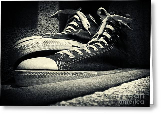Giant Sneakers At Ripley's New York City Greeting Card by Sabine Jacobs