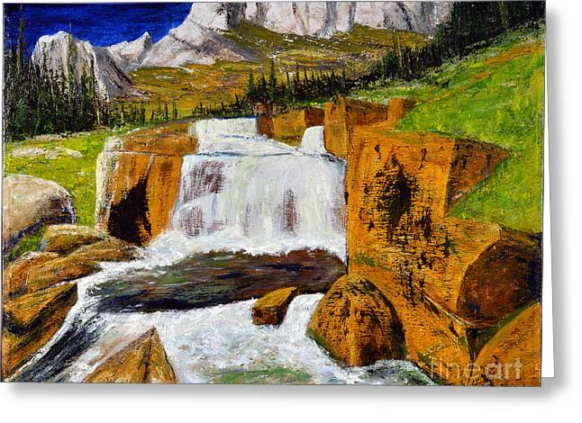 Giant Steps Waterfall Greeting Card