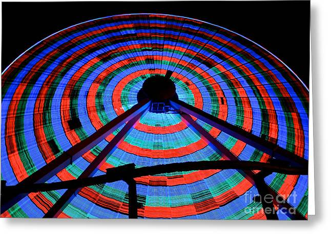 Giant Wheel Greeting Card by Mark Miller