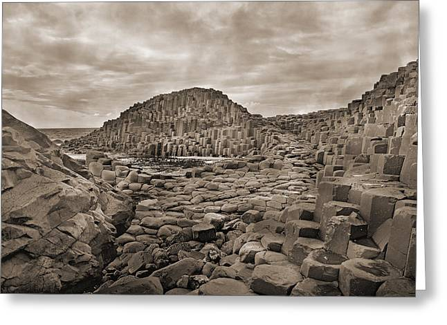 Giant's Causeway Greeting Card by Betsy Knapp