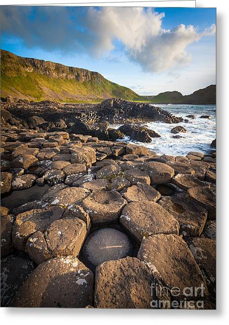 Giant's Causeway Circle Of Stones Greeting Card by Inge Johnsson